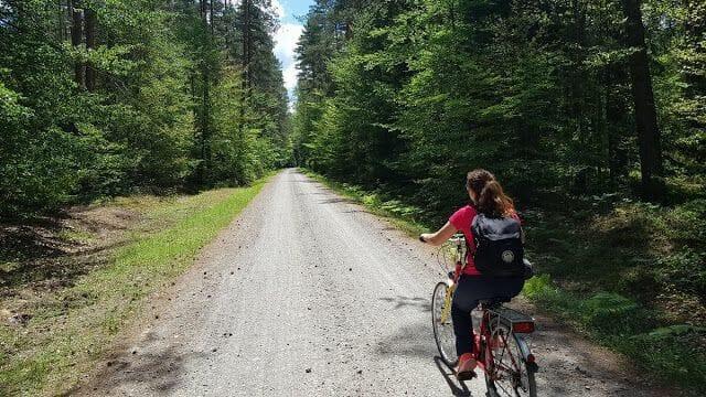 en bici por el parque nacional de Roztocze