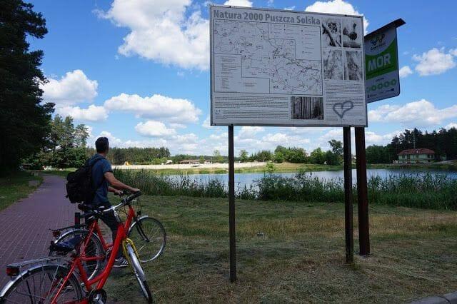 ruta bici parque nacional de Roztocze