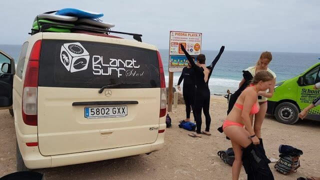 surf en norte de Fuerteventura