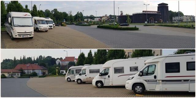 parking de autocaravanas enWieliczka