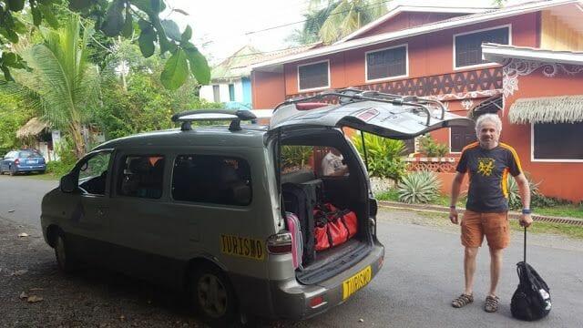 llegar a la frontera de Sixaola desde Puerto Viejo