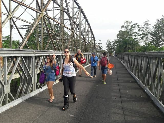 Puente nuevo de la frontera Sixaola Guabito