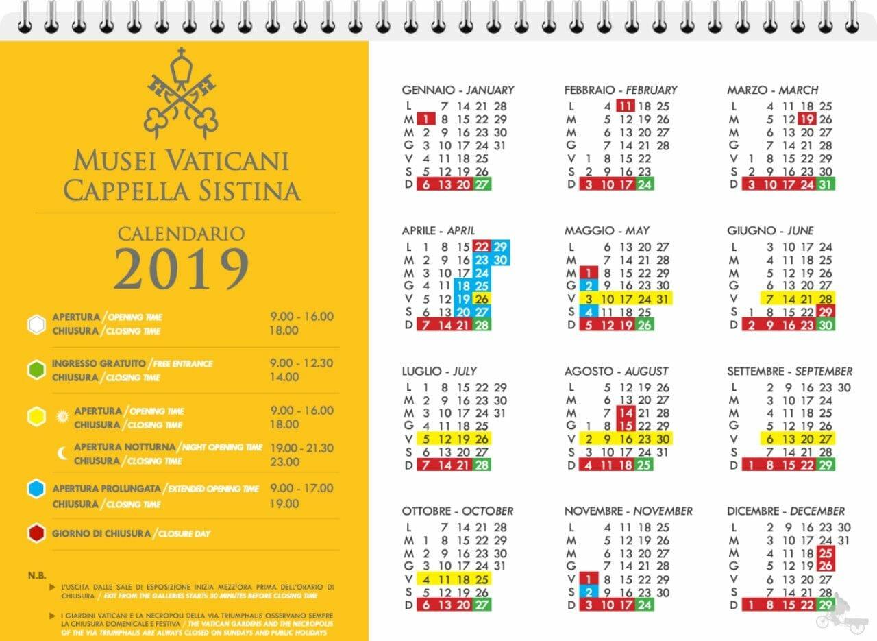 horarios museo vaticano