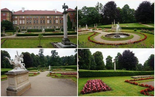 jardín del Palacio de Łańcut en Polonia