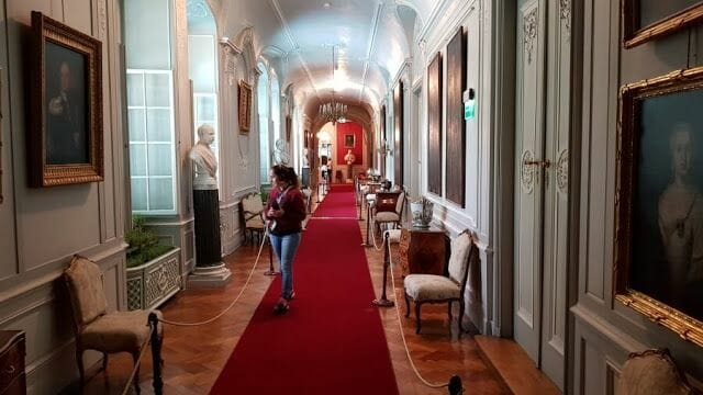 El Palacio de Łańcut pasillos