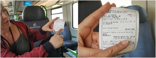 billetes del tren de Cracovia a las minas de Sal
