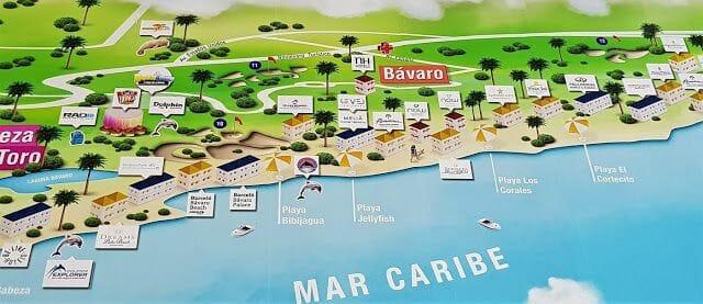 playa Bávaro mapa