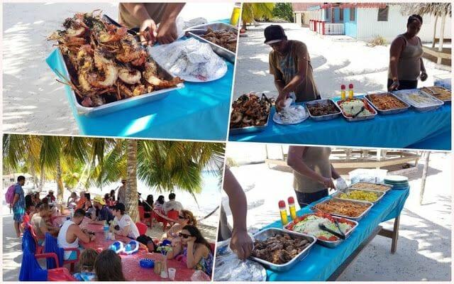 comida en isla saona