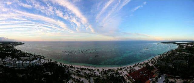 playa bavaro desde el aire