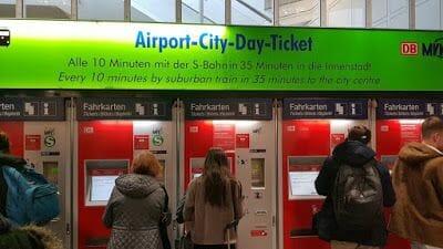 máquinas de transporte aeropuerto de munich