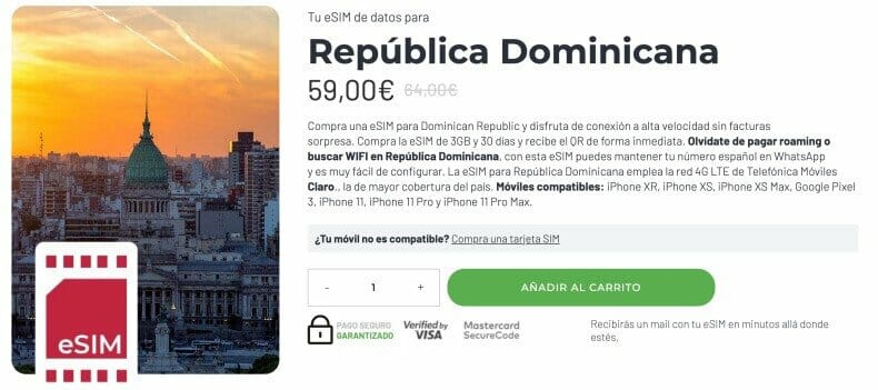 esim republica dominicana internet