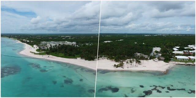 Playa Blanca dron desde el aire