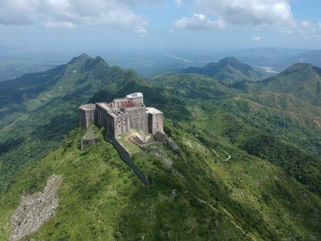 Citadelle laferrière de Haití desde un drone