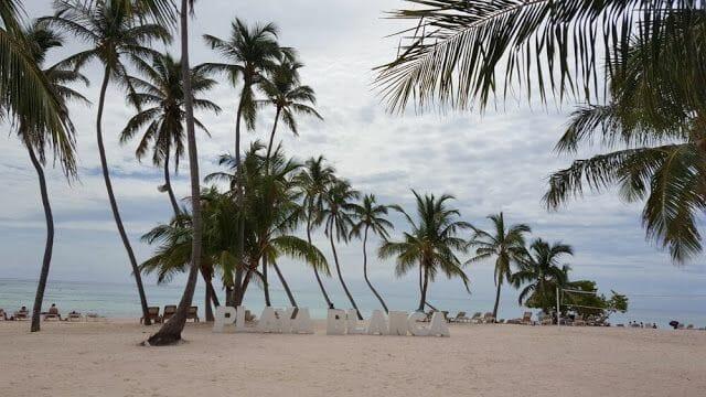 letras Playa Blanca Punta Cana