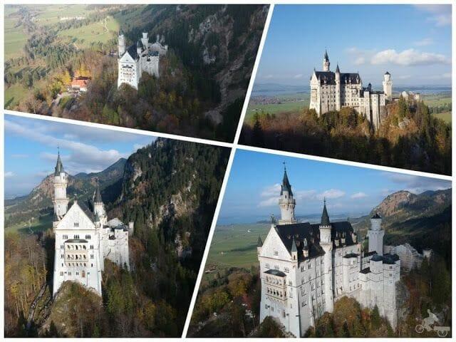 castillo de Neuschwanstein desde el drone