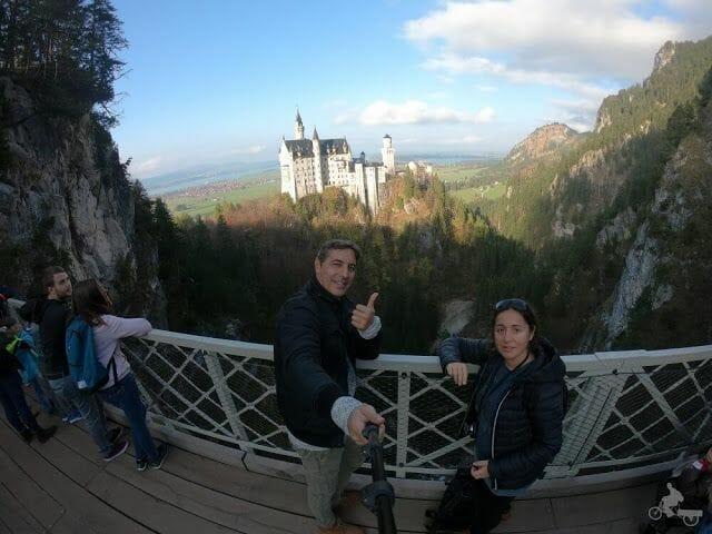 Castillo de Neuschwanstein desde el puente de Marienbrücke