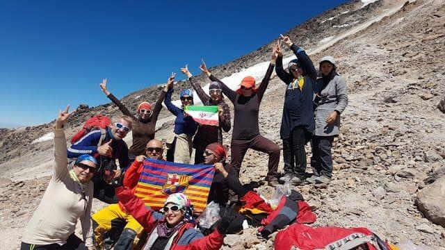 En la cima - Ascenso al Damavand