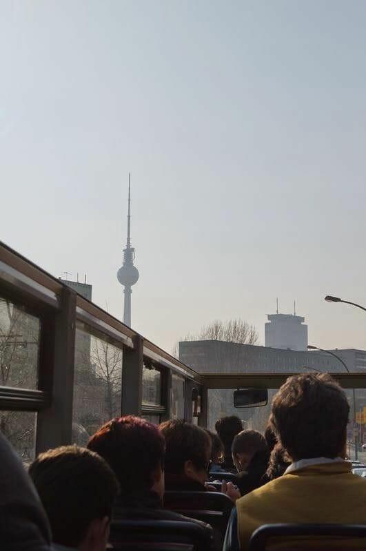torre de Berlín desde el bus turístico