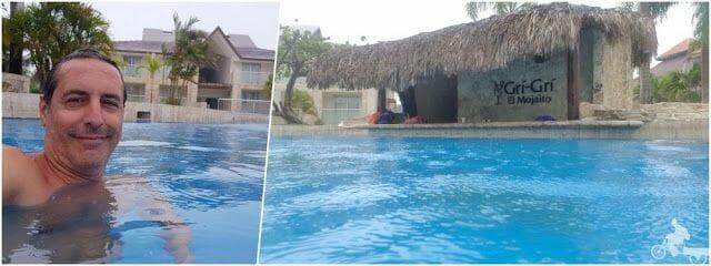 baño piscina con huracán
