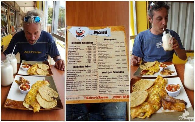 tortillas y zumo de piña costa rica