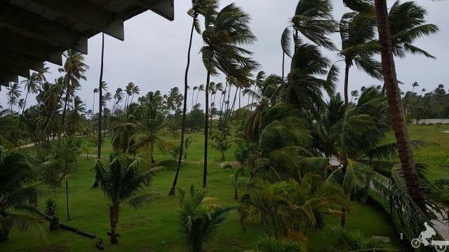 viento de huracán