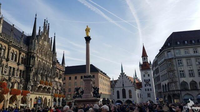 Marienplatz y columna santa maria