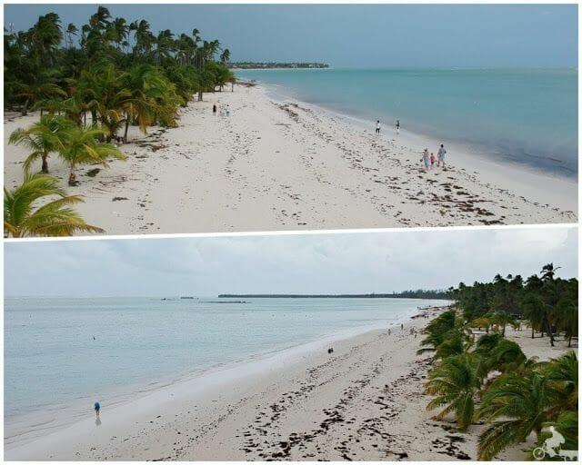 playa tras el paso de huracan