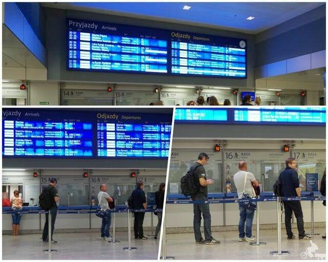 estacion tren cracovia venta tickets