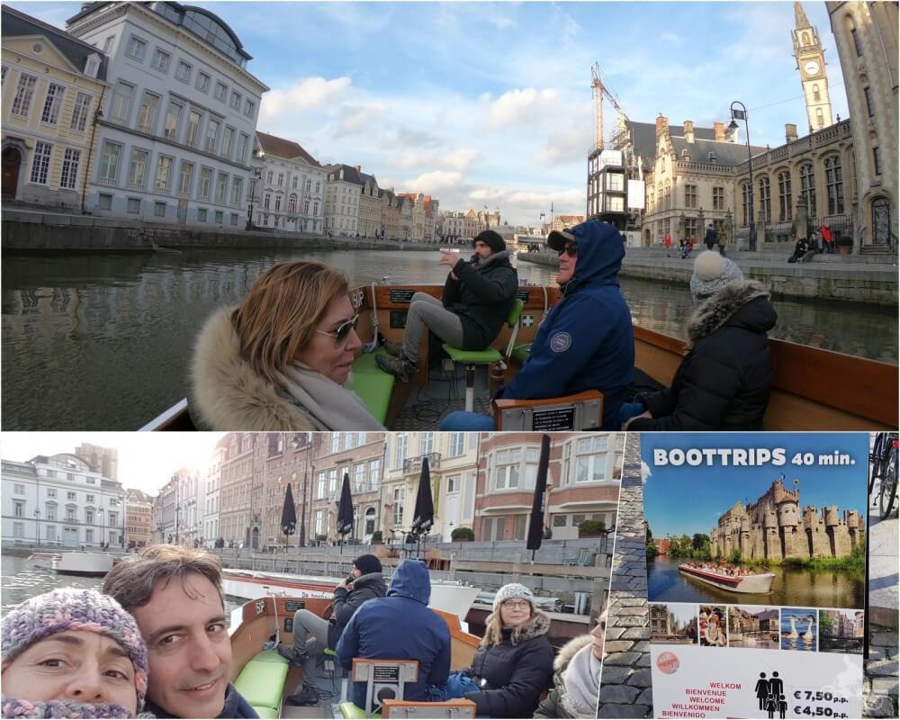 Paseo en barco por el río en gante