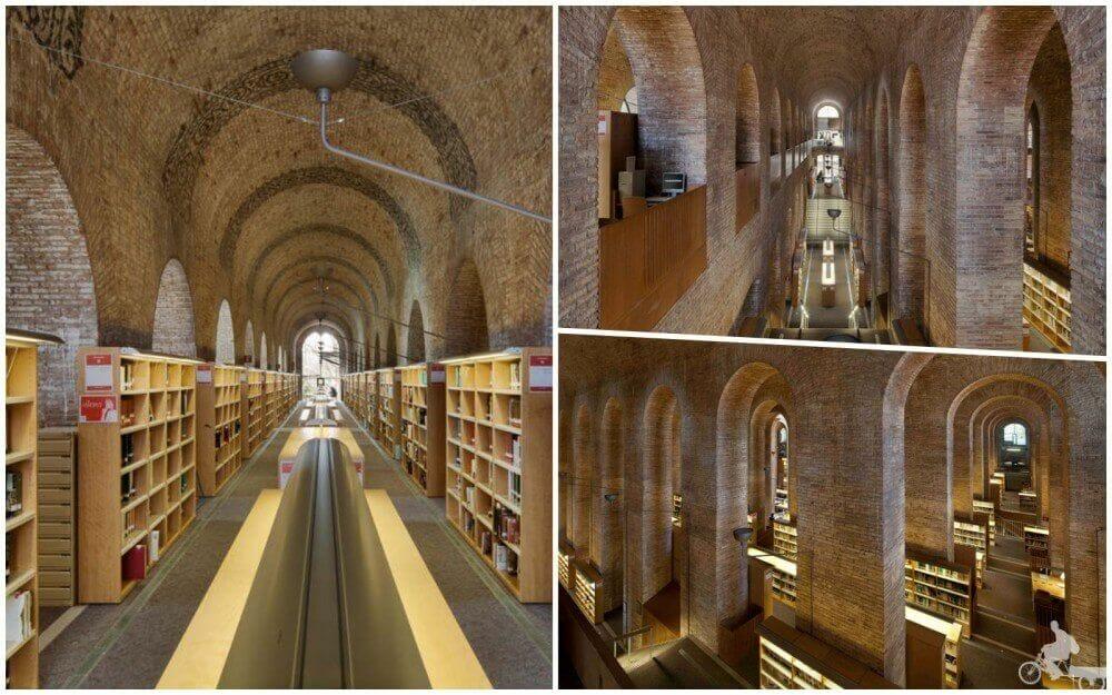 Biblioteca de la Universidad Pompeu Fabra - lugares poco turísticos de Barcelona