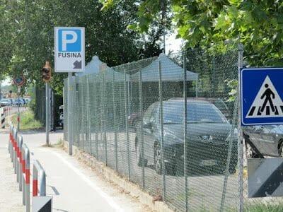 parking aparcamiento fusina