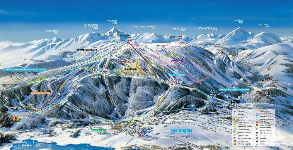 pistas de esqui de Les Angles