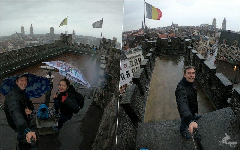 vistas torres castillo de los Condes de Gante