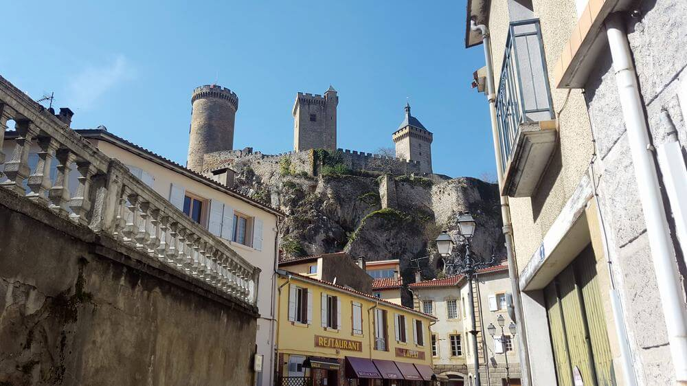 castillo de Foix en Ariege