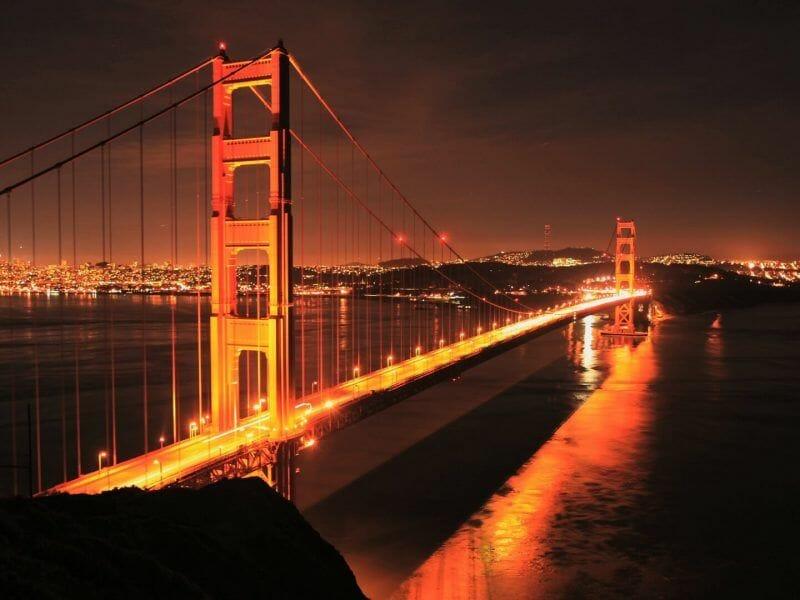 puente san francisco atardecer
