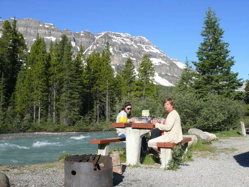 picnic en el camping mosquito creek