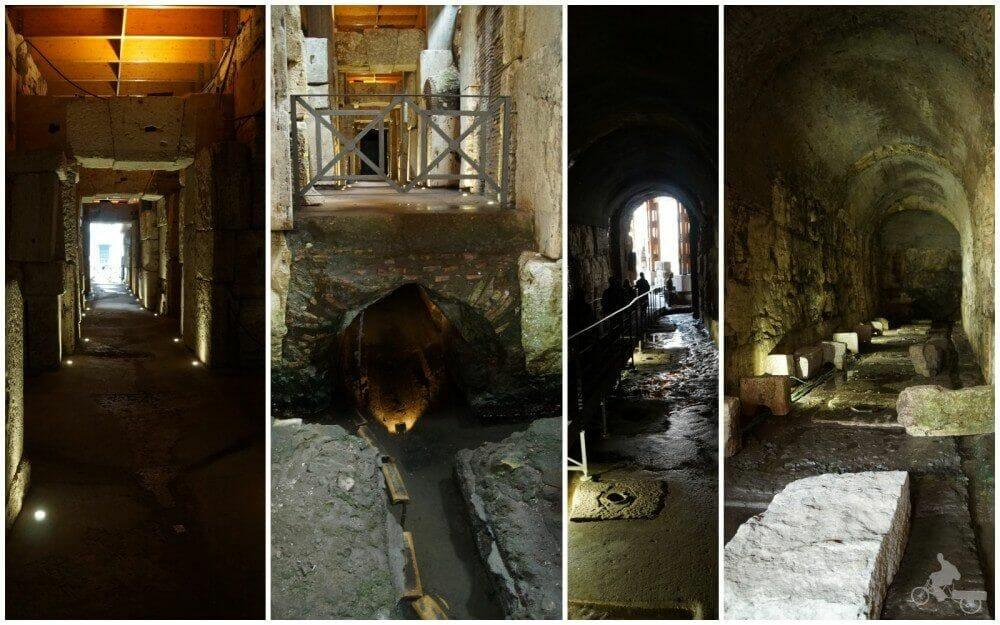 pasillos subterraneos coliseo de roma
