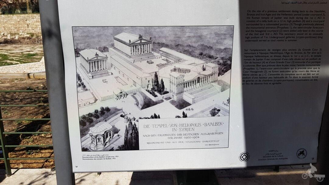 templo de Baco y de Júpiter en ruinas de Baalbek