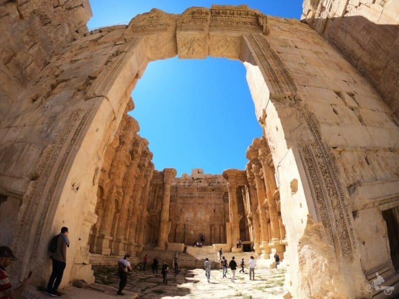 templo de baco ruinas de Baalbek