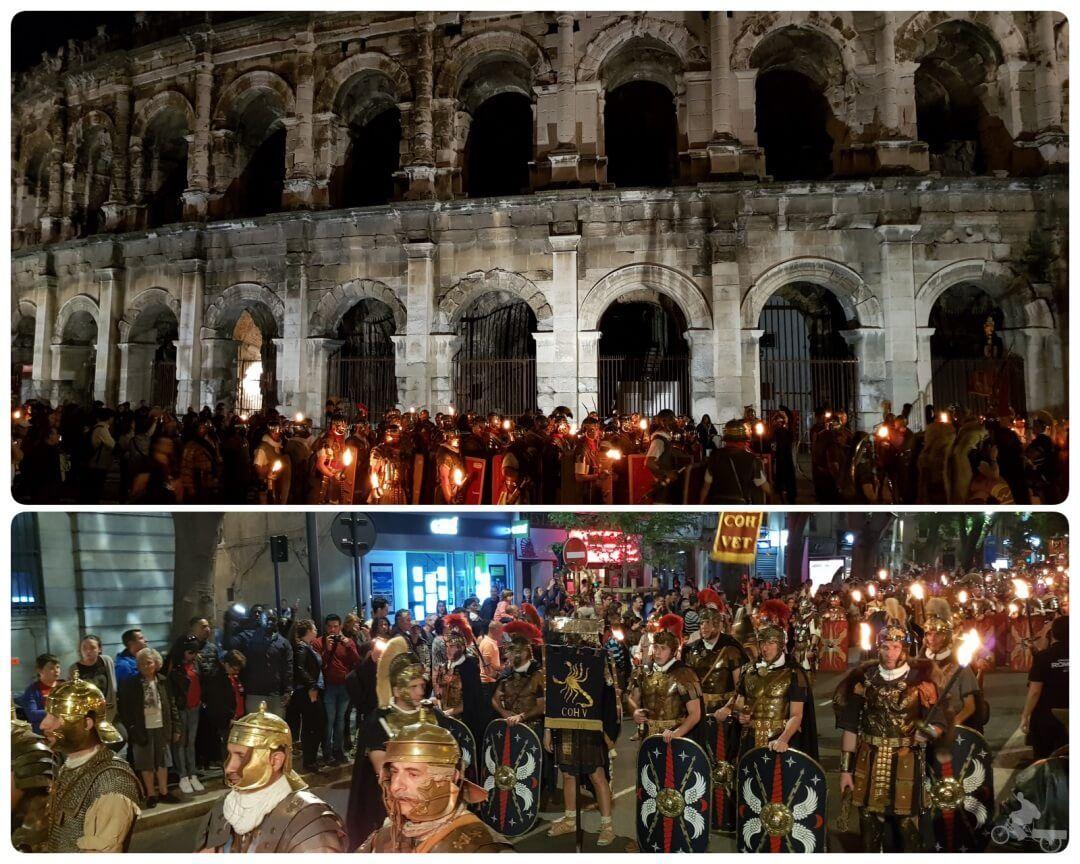 desfile nocturno juegos romanos nimes