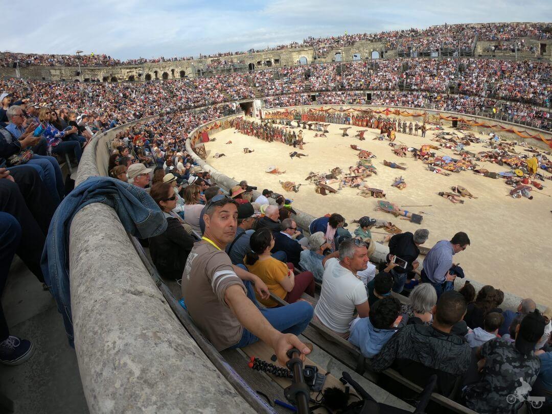 espectaculo juegor romanos nimes