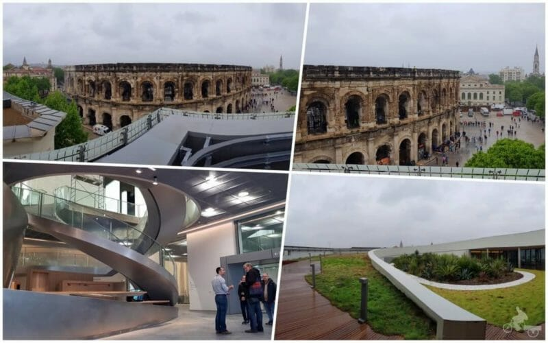 cistas terraza museo romanidad Nimes