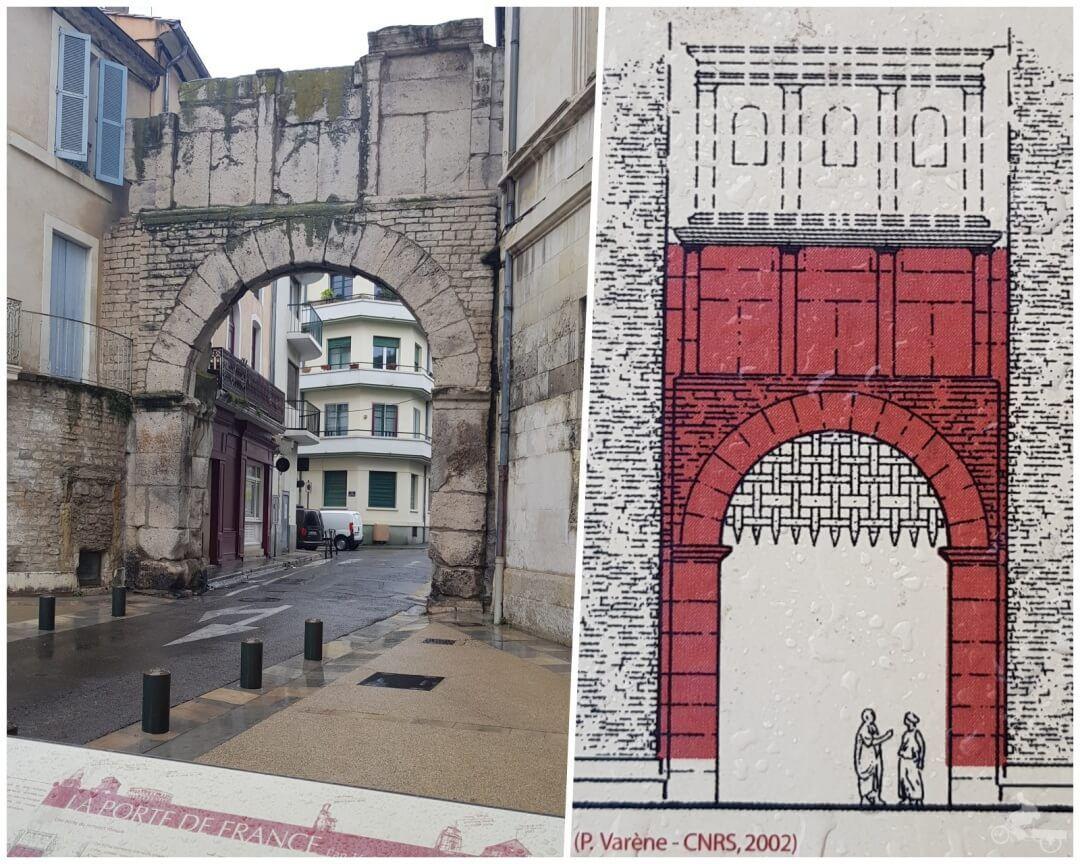 puerta francesa de Nimes