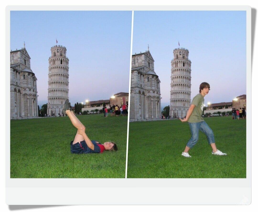 fotos con la torre de pisa de fondo - excursiones desde Florencia