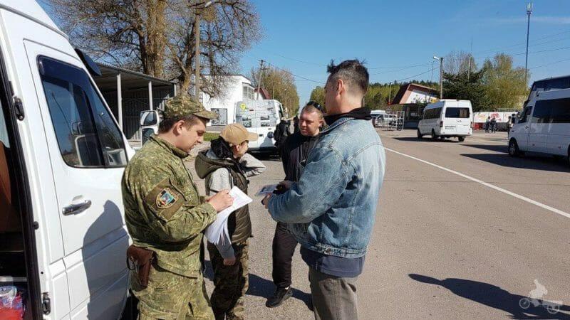 control de pasaportes en el tour a chernobyl