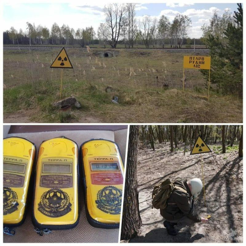 medir radiactividad en chernobyl
