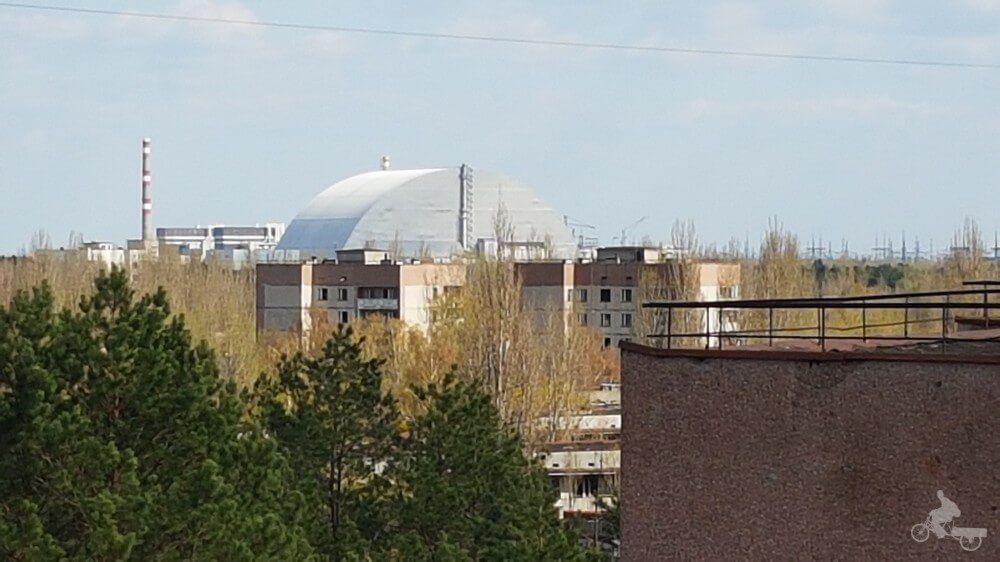 reactor 4 de chernobyl desde pripyat