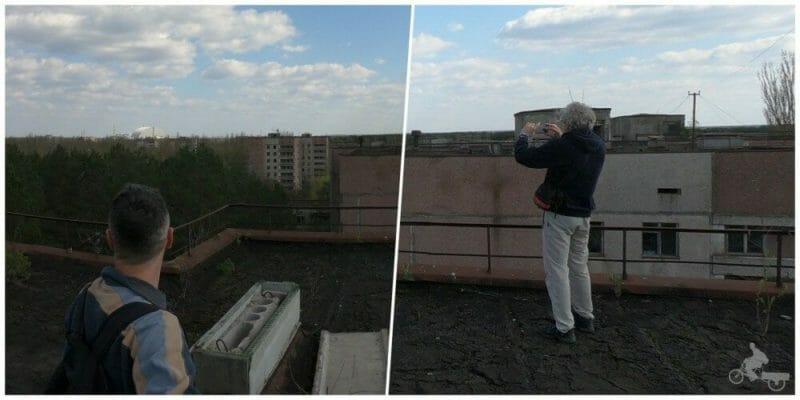 el reactor 4 de chernobyl desde pripyat