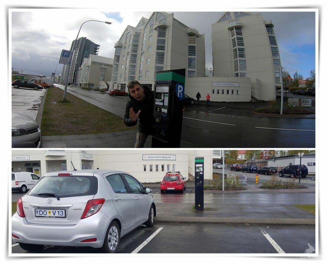 aparcamiento en reikiavik