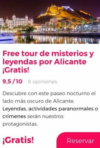 free tour alicante misterios y leyendas